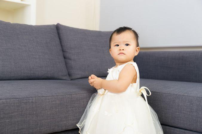 depositphotos 45136837 asian baby girl at home