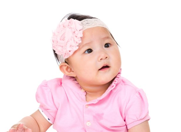 depositphotos 46851261 baby girl looking up