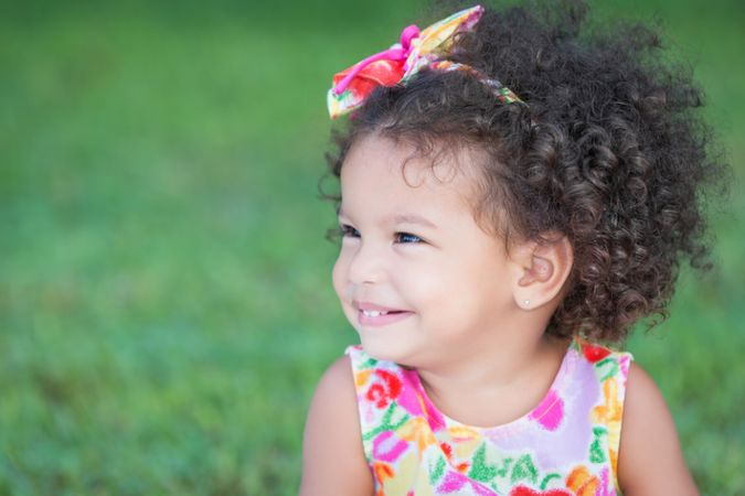 depositphotos 34213801 side portrait of a small hispanic girl with an afro hairstyle