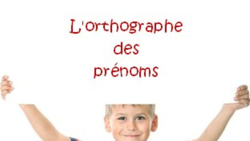 Prénoms et orthographe